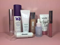 ✨Morning routine✨  #glossier Super Bounce .  #glossier Priming Moisturizer  #NYX Angel Veil Primer .  #clinique Beyond Perfecting Foundation  #glossier Haloscope in Quartz .  #toofaced Better Than Sex Mascara  #colourpop Ultra Matte Lipstick in Clueless  #urbandecay All Nighter Setting Spray