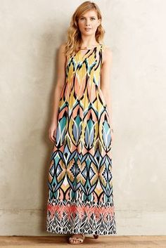 Floreat Dahlia Embroidered Maxi Dress #anthrofave #gift