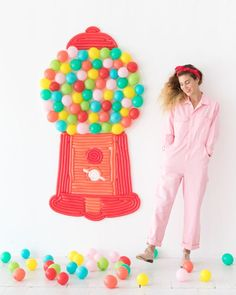 Gumball Machine Balloon Wall   Oh Happy Day!