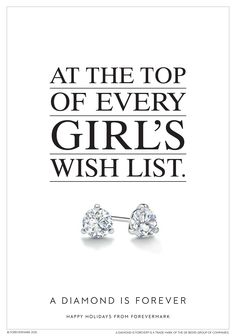 As you make your list and check it twice, be sure to add these sparkling diamond stud earrings. #HintHint Happy Holidays from Forevermark. #ADiamondIsForever