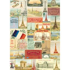 Cavallini & Co. Paris Eiffel Tower Wrapping Paper from Elizabeth's Embellishments