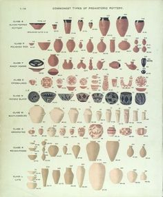 Flinders Petrie Pottery Typology ©UCL Museum - http://theyoungarchaeologist.com/