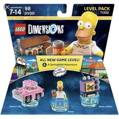 Lego Dimensions SIMPSONS LEVEL PACK 71202 98 PCS BRAND NEW  | eBay