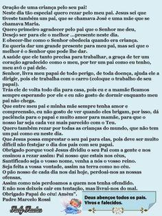 ORAÇÃO DE UMA CRIANÇA PELO SEU PAI