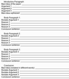 Research Paper Outline Template Goodshows Organization