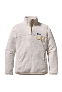 Patagonia Women's Re-Tool Snap-T Pullover – Raw Linen- White X-Dye Available at www.gearheadoutfitters.com