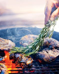 Grilled Rosemary Chicken Recipe from Epicurious.com #myplate #protein