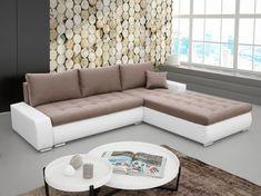 Sarok kanapé Nemisa (barna + fehér) (J)