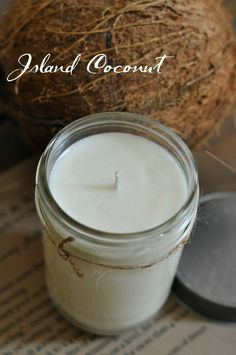 Island Coconut HandPoured Soy Candle by masonandwax on Etsy, $14.00