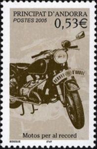 Sello: Motorcycles (Andorra (Administración Francesa)) (Motorcycles) Yt:AD-FR 614,Mi:AD-FR 635