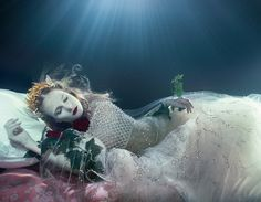 """Lydia Beesley and Franziska Klein in """"Dream Weavers"""" by Zena Holloway for How To Spend It, May 2014"""