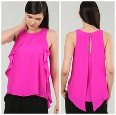 Alice & Trixie ruffle top in a stunning pink!