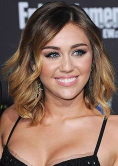 50 Best Ombre Hair Color Ideas for 2014   herinterest.com - Miley Cyrus Ombre Hair Color Idea: Dark brown to gold