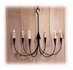 Colonial Sweeping 6-arm chandelier - Model No. C2528T | Copper Lantern Lighting
