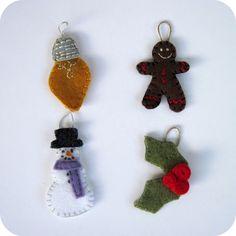Felt ornaments (advent calendar)