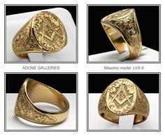 One of my favorite MASONIC rings. By Adone Pozzobon of Adone Galleries.