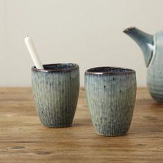 Broste Nordic Sea Stoneware Handleless Mug - Trouva