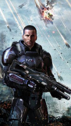 Shep! by uncannyknack.deviantart.com #MassEffect #Shepard #N7___©__!!!!