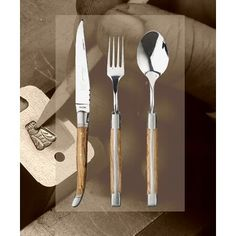 flatware with a rustic edge