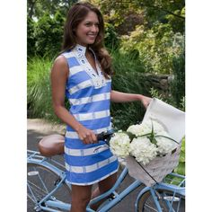 Colony Chic Dress in Marina Blue by Sail to Sable on Country Club Prep // email xcgal98@gmail.com for a 20% off code