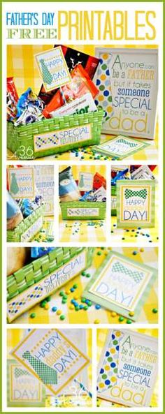 These are fabulous Father's Day Gift Ideas and awesome DIY free printables.