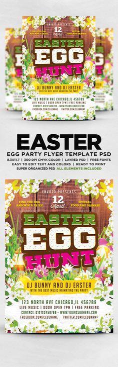 Easter Egg Hunt Flyer Template Easter eggs, Flyers and Eggs
