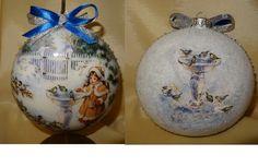 bombka - medalion 12cm - decoupage - dziewczynka i ptaki