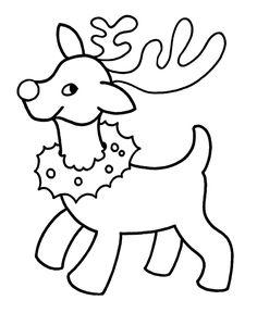 christmas coloring sheets | ... Printables: Easy Pre-K Christmas Coloring Pages - Christmas Reindeer