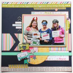 Scrapbook Layout Bella Blvd- Molly Collection