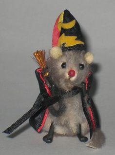 Wizard Magic Vintage Original Fur Toys West Germany Little Mouse Factory Russ | eBay