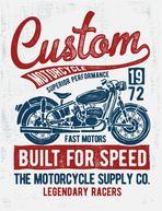 Custom motorcycle typography, t-shirt graphics, vectors.