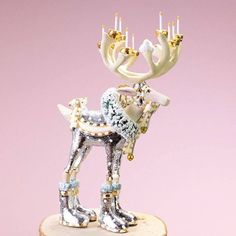 Patience Brewster Reindeer Dancer Medium Ornament 7 Inches NEW IN The BOX
