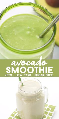 Want a super rich and healthy smoothie filled with good fats and anti-oxidants This is the keto recipe for you It s delicious and smooth and people are surprised to discover how great it tastes It s a perfect post-workout snack Can be made dairy-free too Avocado Smoothie, Smoothie Bowl Vegan, Smoothie Legume, Smoothie Vert, Keto Smoothie Recipes, Smoothie Detox, Healthy Smoothies, Smoothie King, Detox Recipes