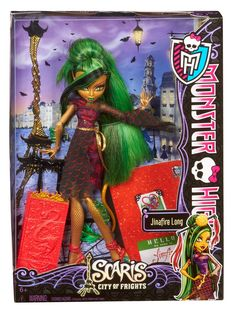 Amazon.com: Monster High Travel Scaris Jinafire Long Doll: Toys & Games