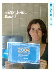 Nos ha llegado otra foto de una familia ganadora de nuestro cheque Aquaservice para la vuelta al cole. ¡Gracias, Manoli! #pruebaavivirmejor