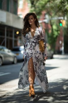 Floaty dress and boots for Autumn