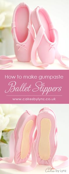 Gumpaste / Fondant Ballet Slippers Tutorial – Cakes by Lynz Ballet Birthday Cakes, Ballet Cakes, Ballerina Birthday Parties, Ballerina Cakes, Fondant Birthday Cakes, Cake Topper Tutorial, Fondant Tutorial, Cake Decorating Techniques, Cake Decorating Tutorials