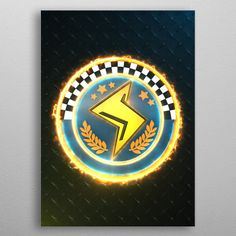 """Beautiful Lightning Cup Emblem"""" metal poster created by Jose Barrera. Our Displate metal prints will make your walls awesome. Wall Art Prints, Poster Prints, Canvas Prints, Posters, 3d Printer Projects, Volkswagen Logo, Print Artist, Cool Artwork, Lightning"""