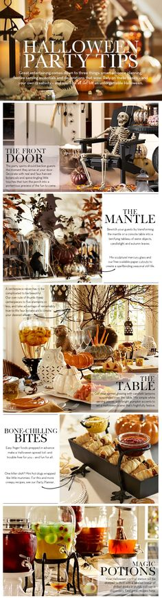 Halloween Party Tips | Pottery Barn (if only I had a bazillion dollars)
