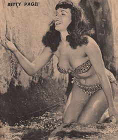 """/""""Bettie Page Rules/"""" Bettie Page Fine Art Print by Jim Silke with Pencil Draft"""
