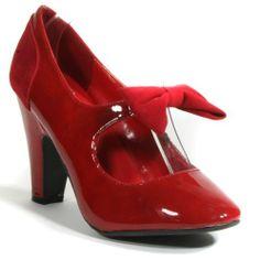 Patent Faux Suede Maryjane Velvet Bow Round Toe Pump (6, RED) Fourever Funky,http://www.amazon.com/dp/B008ZGEKBG/ref=cm_sw_r_pi_dp_g31ftb11HZS8QS0M