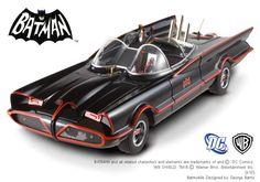 Batman Diecast Model 1/18 1966 Batmobile Hotwheels Elite Edition with Batman and Robin figures - The Movie Store