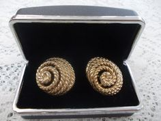 Signed Trifari Vintage Clip Earrings by DaysofYoreTreasures