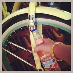 It came with a bottle opener so I toasted my birthday gift of my new Huffy
