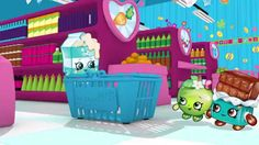 """Shopkins Cartoon - Episode 4 """"Choosy"""" - In this episode, Apple Blossom and Cheeky Chocolate invent a fun new game in the aisles of Shopville! Spilt Milk is up first but will she win the game? Watch to find out! #Shopkins #Toy #Episode"""