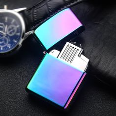 2017 New USB Lighter Electric Pulse Arc Cigarette Lighter Windproof Thunder Metal Cigarette Plasma Flameless Cigar Gadgets Men