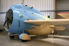 Believe it or not, this a real plane from the 1930s (Italian - with the propeller in the main body of the craft). What a dieselpunk dream!