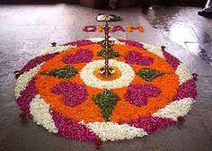 25 Most Colourful Simple Rangoli Designs for Home - Buy lehenga choli online Rangoli Designs Diwali, Diwali Rangoli, Rangoli Designs With Dots, Beautiful Rangoli Designs, Kolam Designs, Flower Rangoli, Flower Mandala, Flower Petals, Diwali Decorations