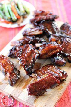 These ribs need to marinade for hours Hoisin Pork Ribs - Ang Sarap Pork Rib Recipes, Meat Recipes, Asian Recipes, Cooking Recipes, Smoker Recipes, Cooking Tips, Hawaiian Recipes, Barbecue Recipes, Vietnamese Recipes