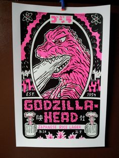 Limited Edition Hot Pink Godzilla Lager Hand by FriendPrices